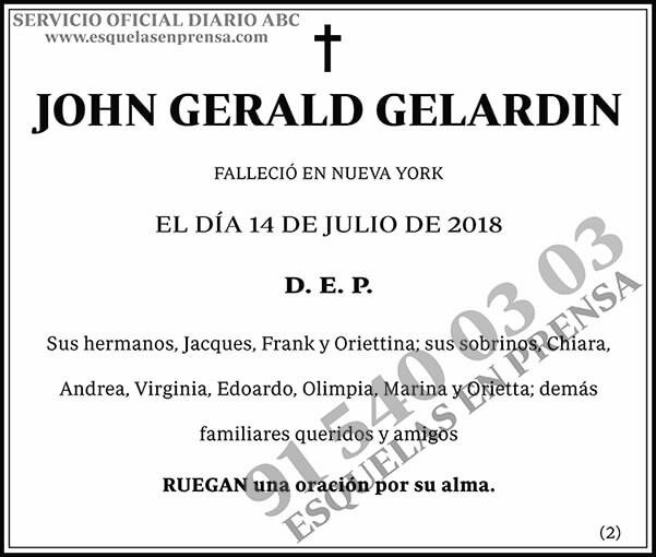 John Gerald Gelardin